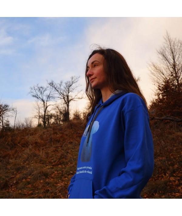 Hanorac unisex albastru ciuperci profil