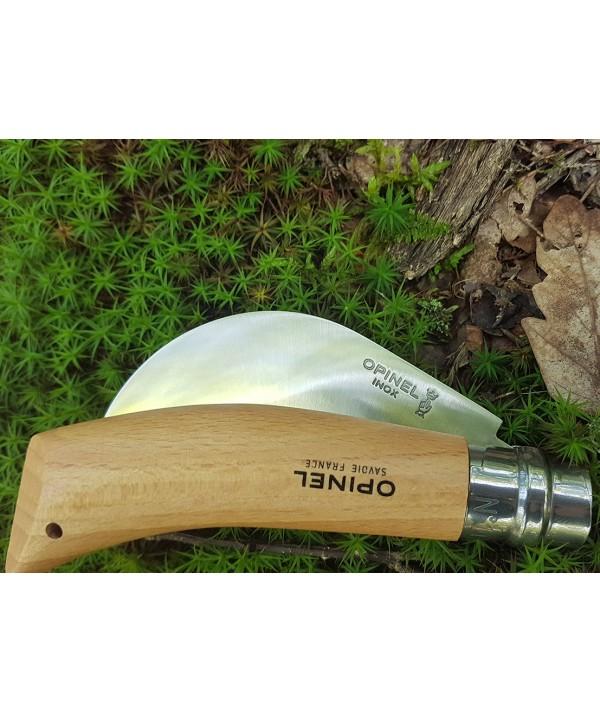Briceag Opinel pentru altoit si cules plante (seceruta) - lamă curbată din aliaj de  oțel inoxidabil cu crom - închis