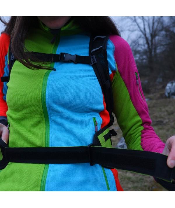 Rucsac de hiking / alergare verde cu sigla IncrEdible - închidere cu scai la brâu